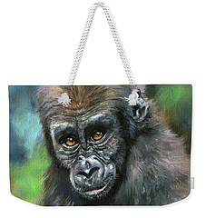 Young Gorilla Weekender Tote Bag by David Stribbling