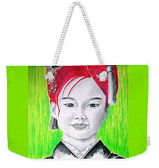 Young Japanese Beauty -- The Original -- Portrait Of Japanese Girl Weekender Tote Bag