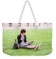 Young Japanese Man Traveling, Working In New York 15041418 Weekender Tote Bag