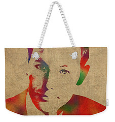Young Johnny Carson Watercolor Portrait Weekender Tote Bag