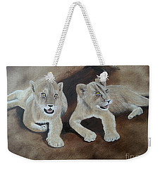 Young Lions Weekender Tote Bag