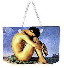 Young Man By The Sea Weekender Tote Bag