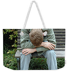 Young Man On Bench Weekender Tote Bag