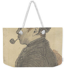 Weekender Tote Bag featuring the painting Young Man With A Pipe Nuenen, March 1884 Vincent Van Gogh 1853 - 1890 by Artistic Panda
