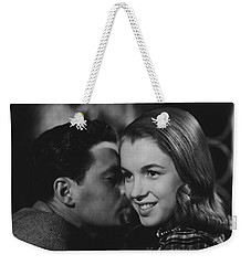 Weekender Tote Bag featuring the photograph Young Marilyn Monroe by R Muirhead Art