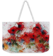 Weekender Tote Bag featuring the painting Young Ones by Claire Bull