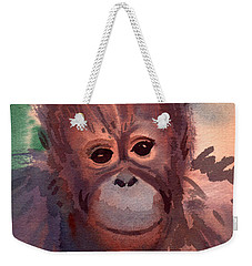 Young Orangutan Weekender Tote Bag by Donald Maier