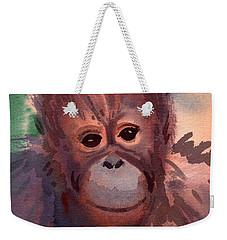 Young Orangutan Weekender Tote Bag