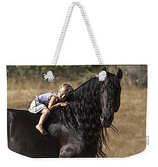 Young Rider Weekender Tote Bag by Wes and Dotty Weber
