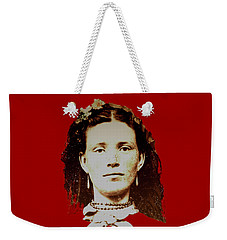 Weekender Tote Bag featuring the digital art Young Woman Of Olden Times by Asok Mukhopadhyay