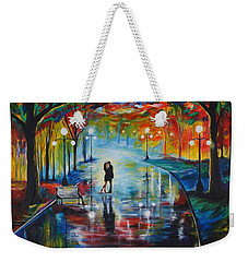 Your Love Weekender Tote Bag by Leslie Allen
