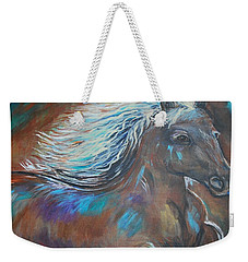 Weekender Tote Bag featuring the painting Your Majesty by Leslie Allen
