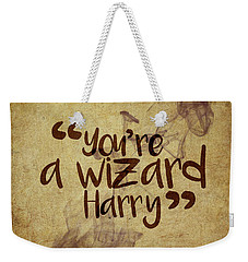 You're A Wizard Harry Weekender Tote Bag