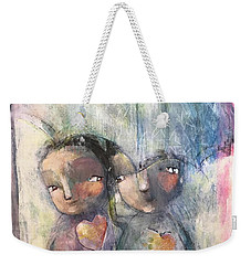 Weekender Tote Bag featuring the painting You're Safe Here by Eleatta Diver