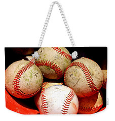 Youth Baseball 6 Weekender Tote Bag by David Gilbert