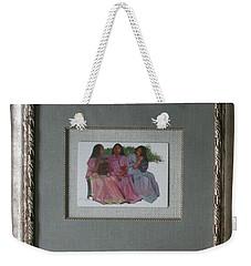 Youthful  Beauties Oil On Porcelain Weekender Tote Bag