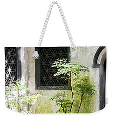 Weekender Tote Bag featuring the photograph Yuan Garden by Angela DeFrias