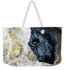 Yuba Blue Boulder In Stormy Waters Weekender Tote Bag