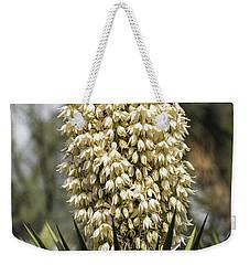 Weekender Tote Bag featuring the photograph Yucca Flowers In Bloom  by Saija Lehtonen
