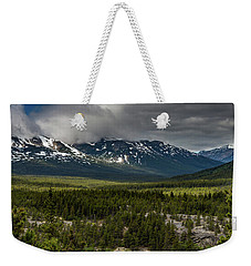 Weekender Tote Bag featuring the photograph Yukon Wilderness by Ed Clark
