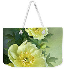 Weekender Tote Bag featuring the digital art Yumi Itoh Peony by Thanh Thuy Nguyen