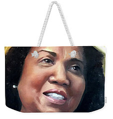 Weekender Tote Bag featuring the painting Yvonne by Diane Daigle