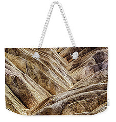 Weekender Tote Bag featuring the photograph Zabriskie Point Drama by Janis Knight