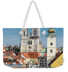 Zagreb Cathedral And St. Mary's Church Weekender Tote Bag by Steven Richman