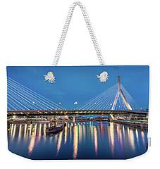 Zakim Bridge And Charles River At Dawn Weekender Tote Bag