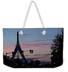 Zakim Bridge At Sunset Weekender Tote Bag