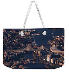 Weekender Tote Bag featuring the photograph Zakim Bridge In Context by Rona Black