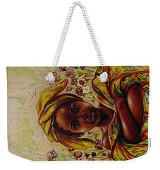 Weekender Tote Bag featuring the painting Zakkiyya by Emery Franklin