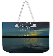 Weekender Tote Bag featuring the photograph Zambezi Sunset by Karen Lewis