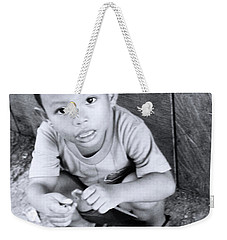 Weekender Tote Bag featuring the photograph Zamouching by Jez C Self