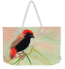 Zanzibar Red Bishop Weekender Tote Bag