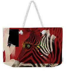 Weekender Tote Bag featuring the digital art Zebra 4.0 by Nola Lee Kelsey