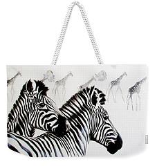 Zebra And Giraffe Weekender Tote Bag
