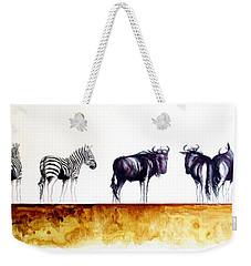 Zebra And Wildebeest Weekender Tote Bag