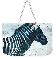 Zebra- Art By Linda Woods Weekender Tote Bag by Linda Woods
