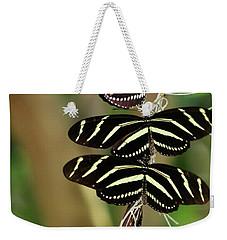 Zebra Butterflies Hanging On Weekender Tote Bag