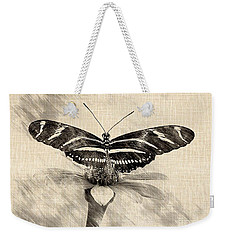 Zebra Butterfly Sketch Weekender Tote Bag