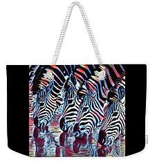 Zebra Dazzle Weekender Tote Bag