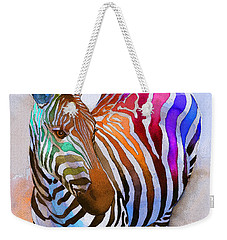 Zebra Dreams Weekender Tote Bag by Galen Hazelhofer