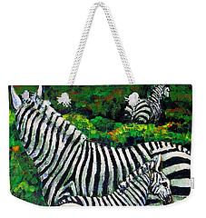 Zebra Family Weekender Tote Bag