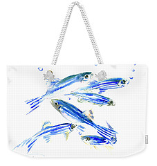 Zebra Fish, Danio Weekender Tote Bag by Suren Nersisyan