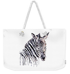 Zebra Head Weekender Tote Bag by Marian Voicu