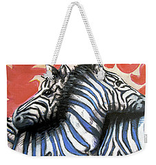 Zebra In Love Weekender Tote Bag