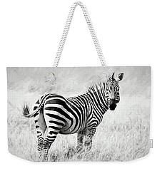 Zebra In The African Savanna Weekender Tote Bag