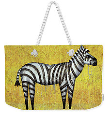 Zebra Weekender Tote Bag by Kelly Jade King