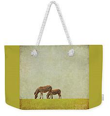 Zebra Weekender Tote Bag by Lyn Randle